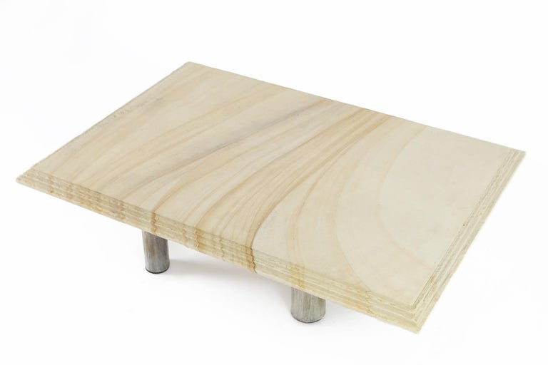 Belgian Brutalist Coffee Table by Pia Manu, Belgium, 1970s For Sale