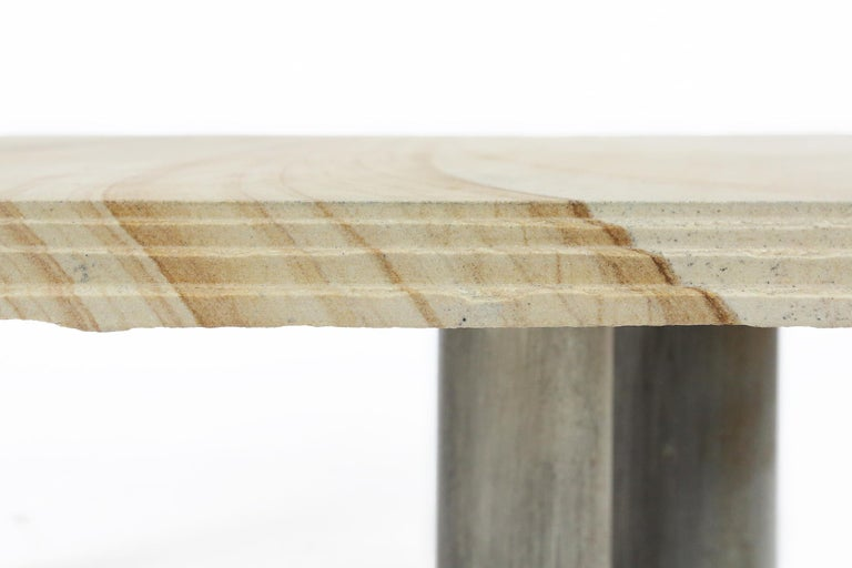 Metal Brutalist Coffee Table by Pia Manu, Belgium, 1970s For Sale