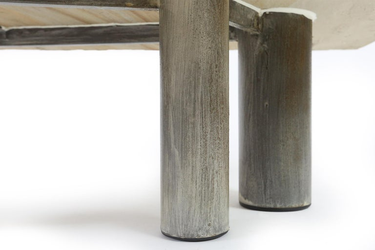 Brutalist Coffee Table by Pia Manu, Belgium, 1970s For Sale 1