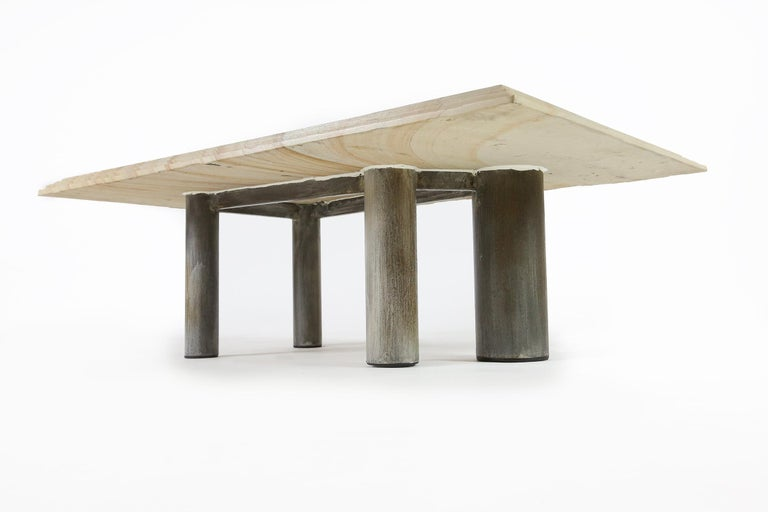 Brutalist Coffee Table by Pia Manu, Belgium, 1970s For Sale 3