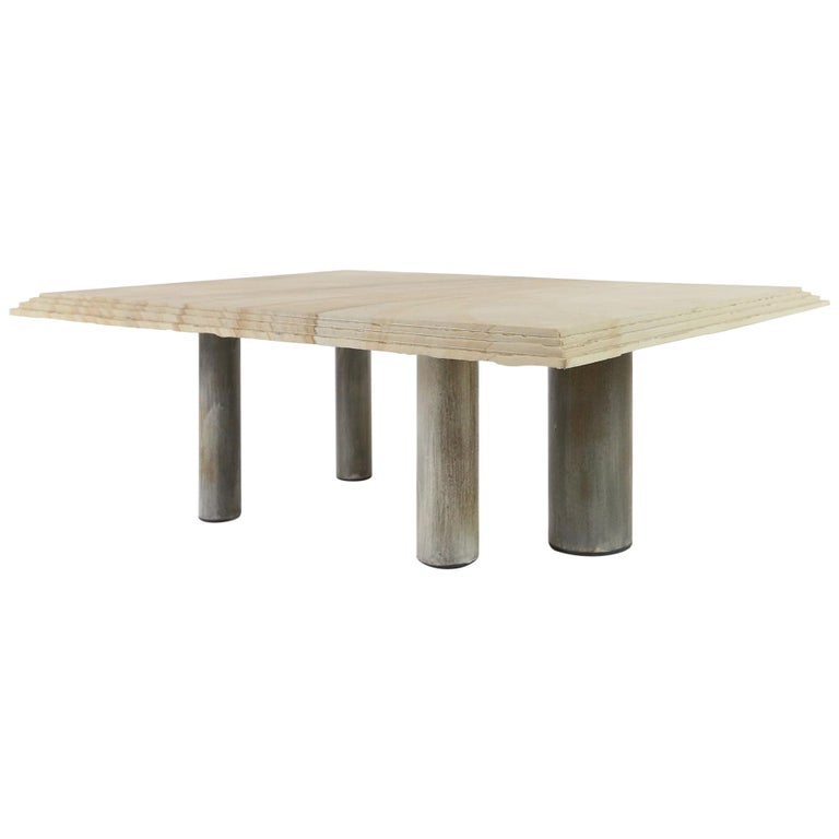 Brutalist Coffee Table by Pia Manu, Belgium, 1970s For Sale