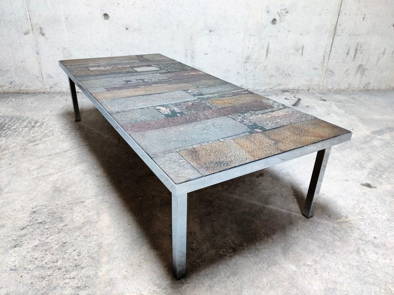 Brutalist Coffee Table by Pia Manu for Amphora, 1960s For Sale 4