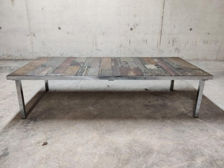 Belgian Brutalist Coffee Table by Pia Manu for Amphora, 1960s For Sale