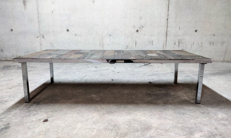 Brutalist Coffee Table by Pia Manu for Amphora, 1960s In Excellent Condition For Sale In Ottenburg, BE