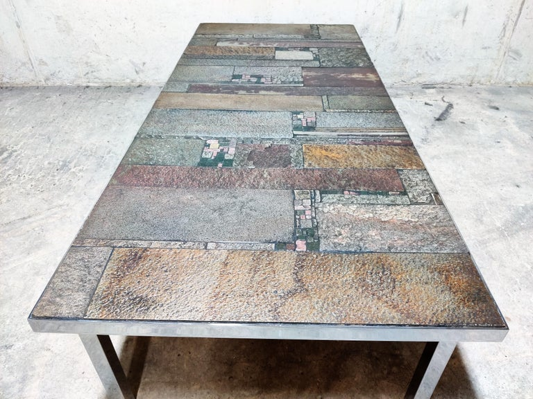 Brutalist Coffee Table by Pia Manu for Amphora, 1960s For Sale 3