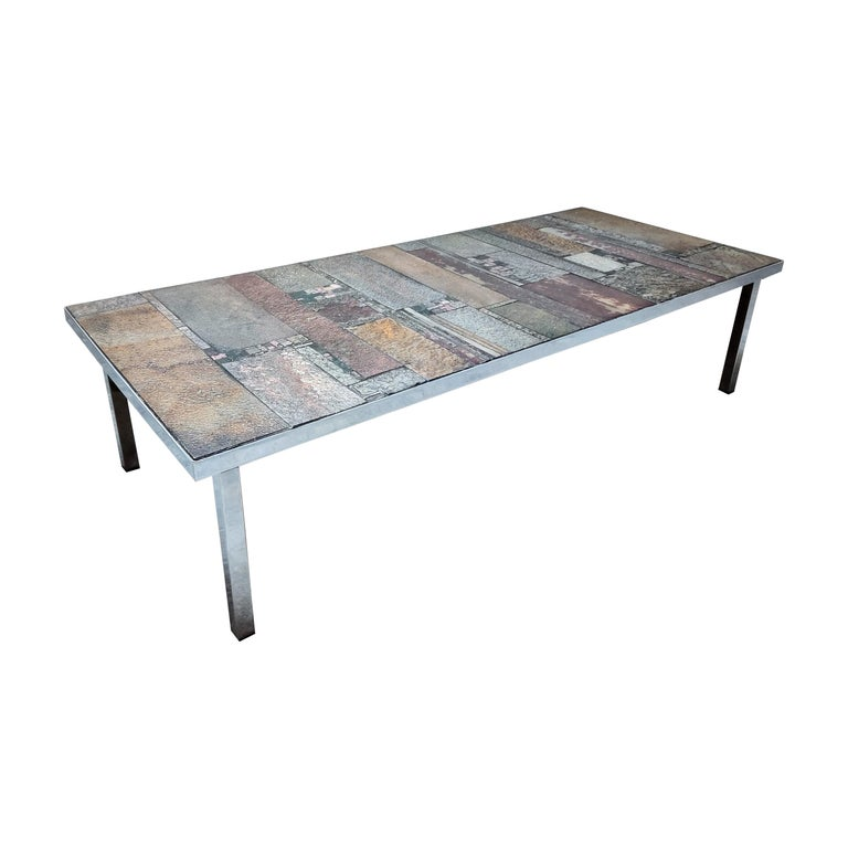 Brutalist Coffee Table by Pia Manu for Amphora, 1960s For Sale