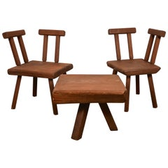 Brutalist Coffee Table Set, Mobichalet, 1950