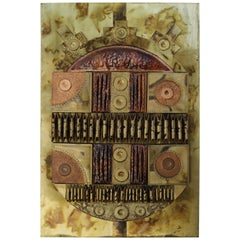 Brutalist Copper and Brass Wall Art