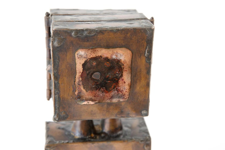 American David Laughlin Brutalist Copper Sculpture