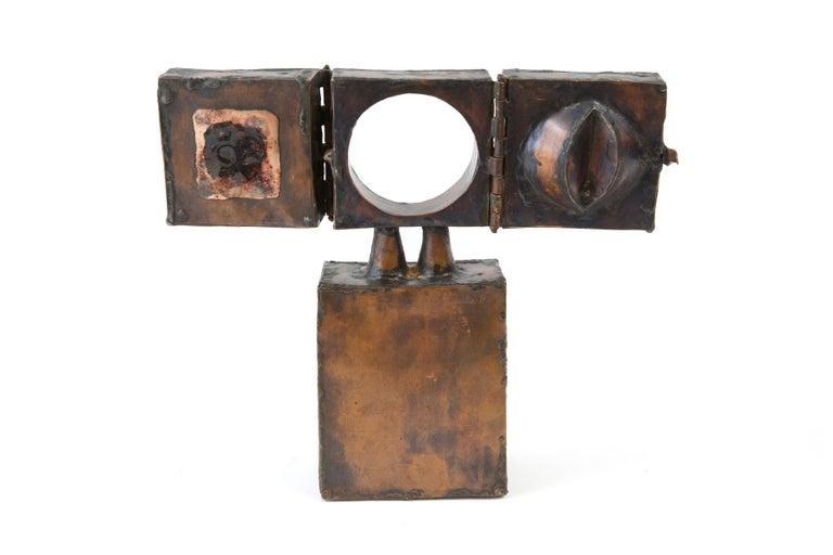 Late 20th Century David Laughlin Brutalist Copper Sculpture