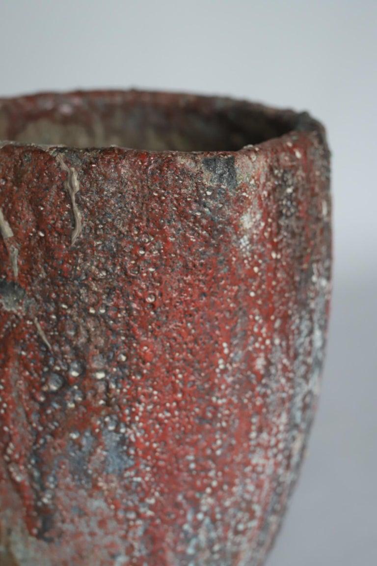 Mid-Century Modern Brutalist Crucible Pot Planter For Sale