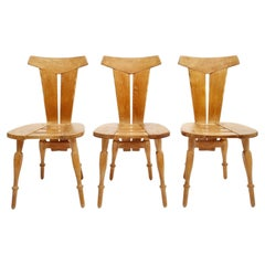 Brutalist Design Pub Cafe Dinning Chair Set, Belgium 1960's