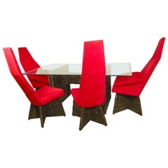 Brutalist Dining Set by Adrian Pearsall