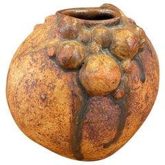 Brutalist Earthenware Pottery Vase by Bernard Rooke