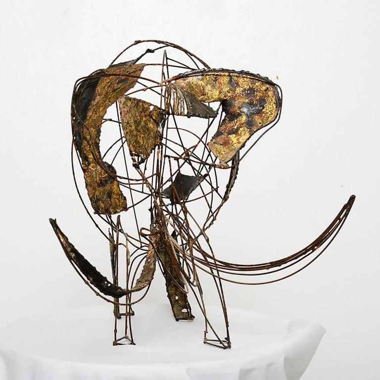 Mid-Century Modern Brutalist Elephant Sculpture John Jagger