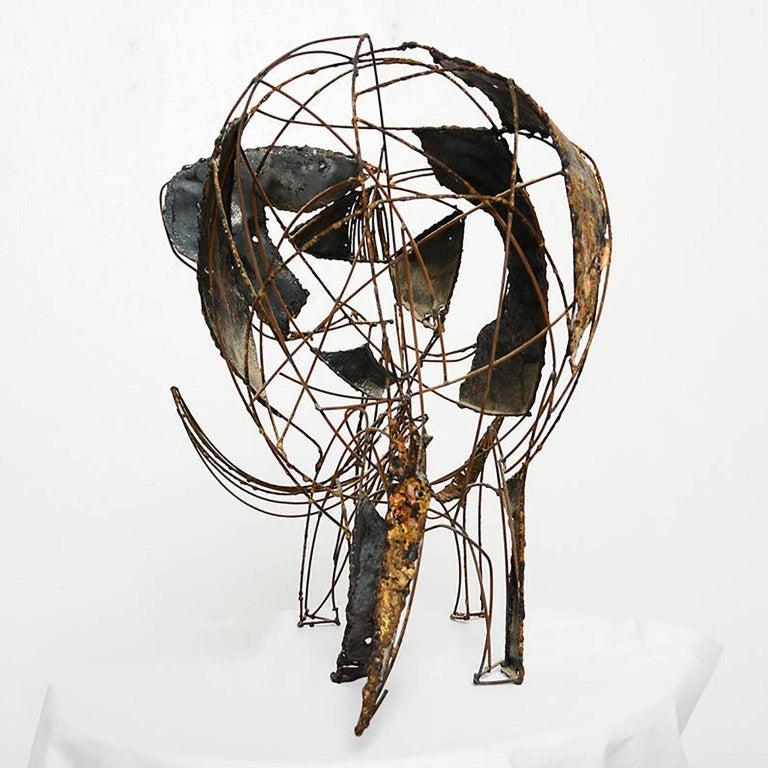Late 20th Century Brutalist Elephant Sculpture John Jagger
