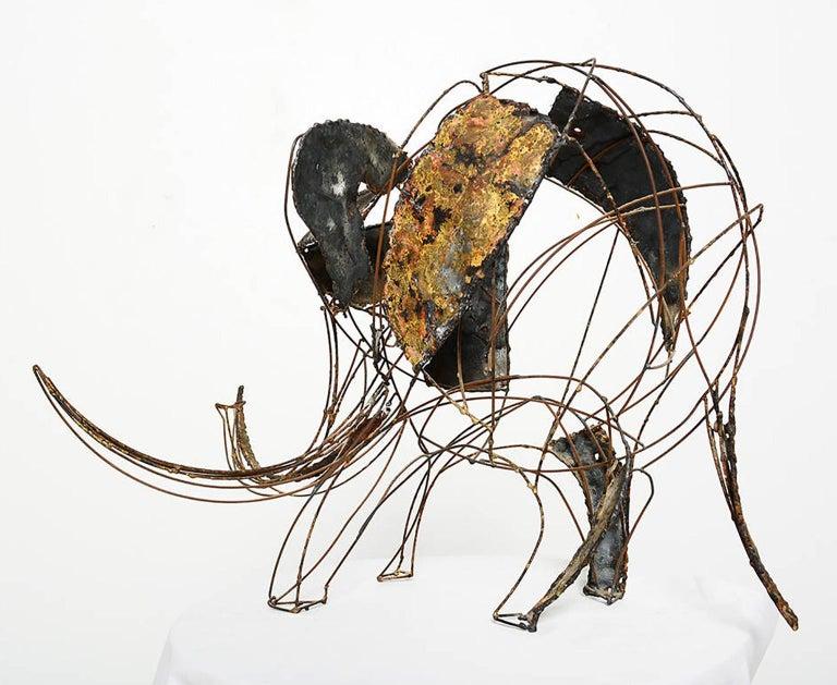 Brass Brutalist Elephant Sculpture John Jagger