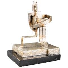 Brutalist Embracing Figures Modern Metal Sculpture