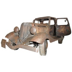 Brutalist Ford 1933 Metal Sculpture by Antonio Fortanel, Mexico, 1960s