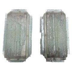 Brutalist Form Crystal Appliques Designed by Poliarte, Verona for Hotel
