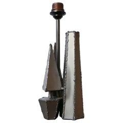 Brutalist Geometric Metal Belgium Table Lamp
