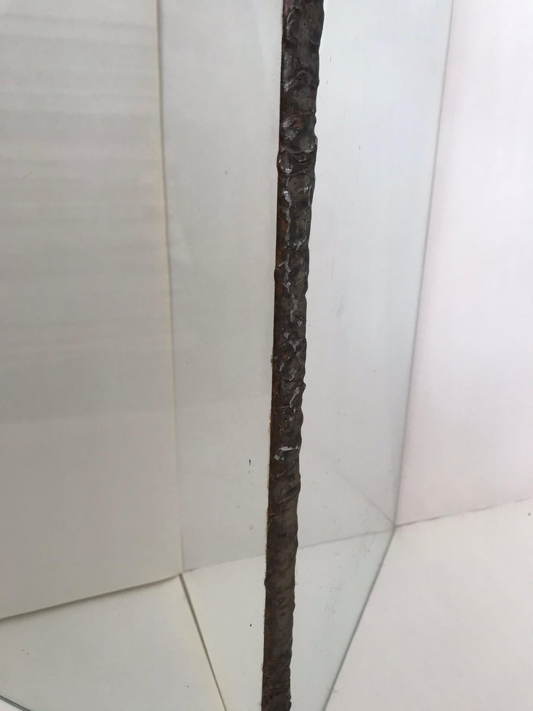 Brutalist Glass and Bronze Copper Occasional Side End or Drinks Table For Sale 4
