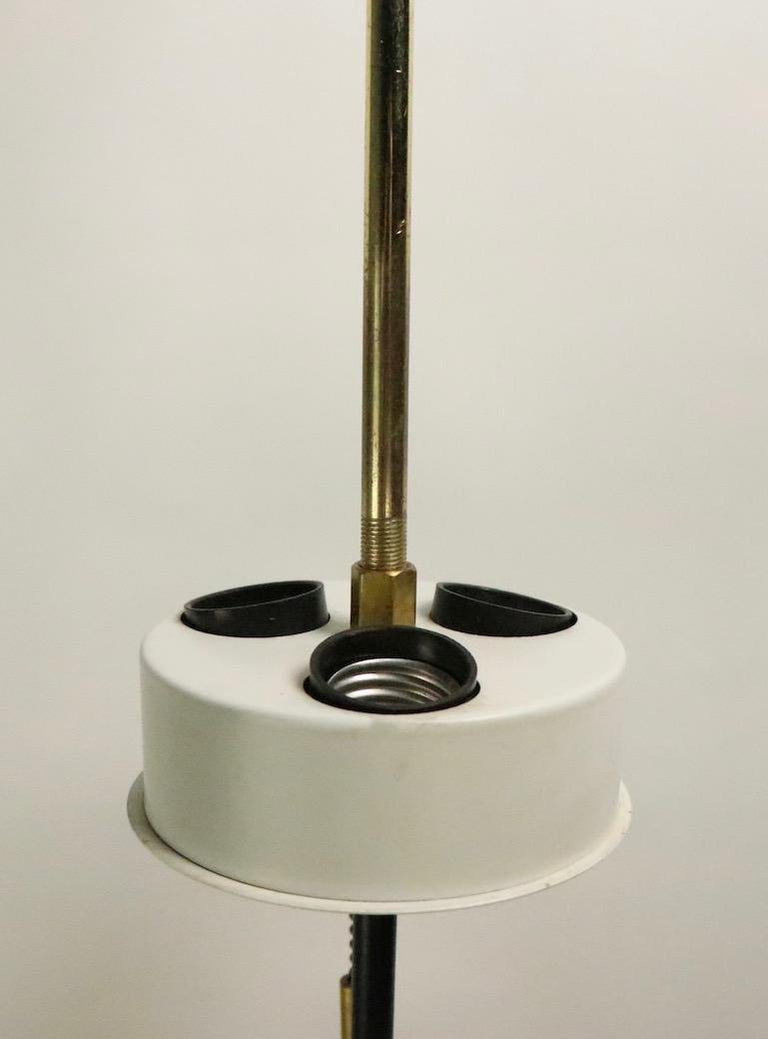 20th Century Brutalist Glass Block Table Lamp Attributed to Thurston for Lightolier For Sale