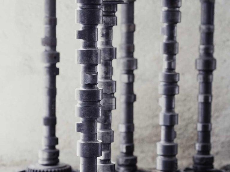 Brutalist Iron Gear Candleholder 4
