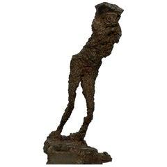 Brutalist Iron Sculpture, by Istvan Drabik, 2003