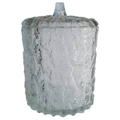 Brutalist Large Italian Ice Bucket in Glass