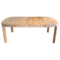 Brutalist Limed and Cerused Oak Dining Table by Lane, 1960s