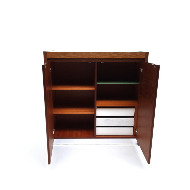 Late 20th Century Brutalist Mahogany Credenza by De Coene, 1970s For Sale