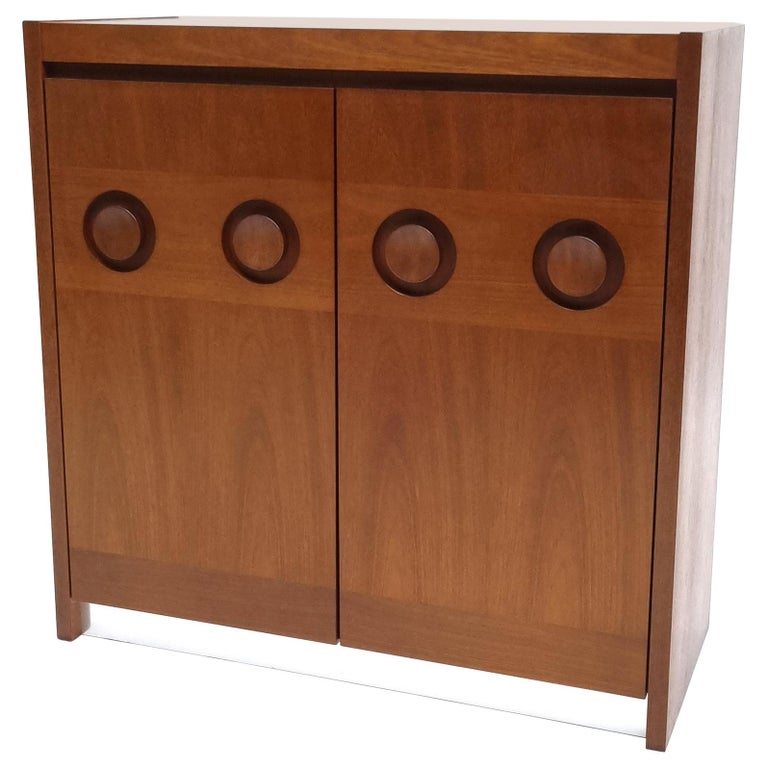 Brutalist Mahogany Credenza by De Coene, 1970s For Sale