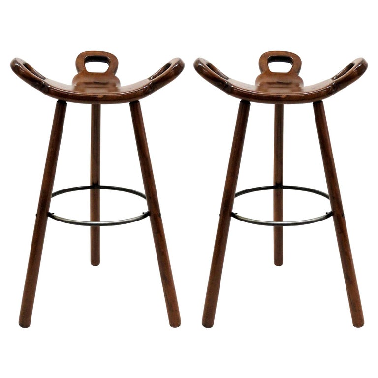 """Brutalist """"Marbella"""" Bar Stools by Confonorm, 1970 For Sale"""
