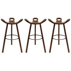 """Brutalist """"Marbella"""" Bar Stools by Confonorm, 1970"""
