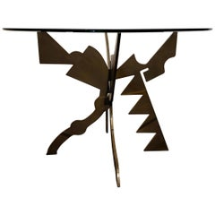 Brutalist Memphis Era Dining Table by Pucci De Rossi