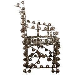 Brutalist Metal Sculpture Chair