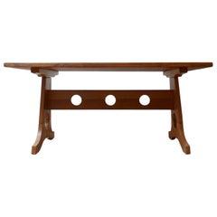 Brutalist Mid-Century Dining Table