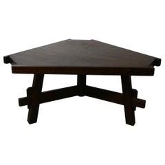 Brutalist Midcentury Triangular Dining Table