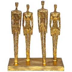 Brutalist Mixed Metal Figurative Sculpture