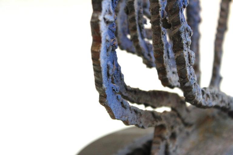 Brutalist Modern Abstract Cut Metal Spiral Sculpture For Sale 5
