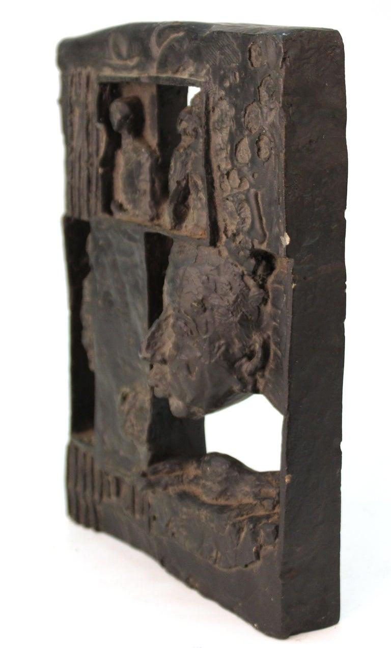 Brutalist Modern Figurative Plaster Sculpture For Sale 1