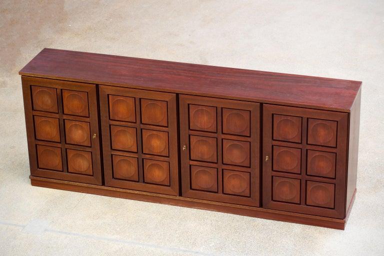 Brutalist Oak Sideboard, 1970s For Sale 9