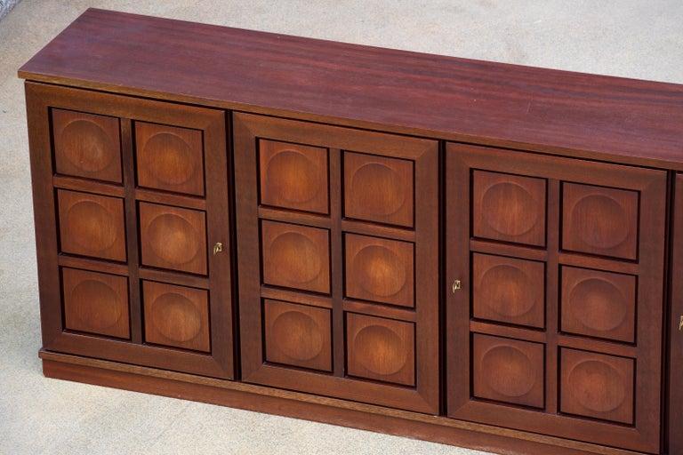 Brutalist Oak Sideboard, 1970s For Sale 10