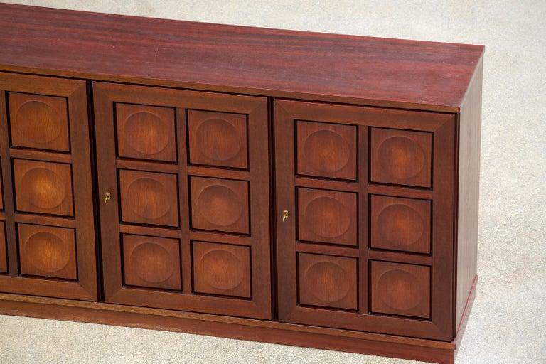 Brutalist Oak Sideboard, 1970s For Sale 11