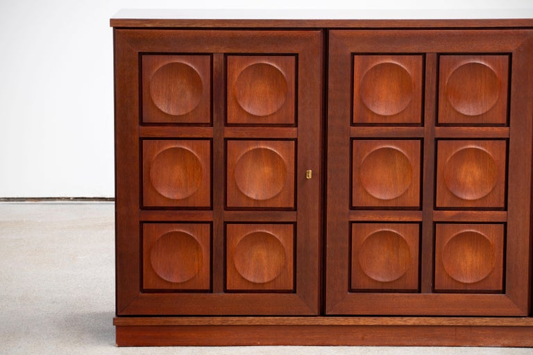 Brutalist Oak Sideboard, 1970s For Sale 3
