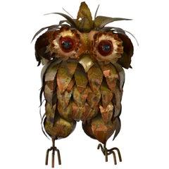 Brutalist Owl Form Sculpture