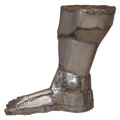 "Brutalist ""Patchwork"" Foot Sculpture"