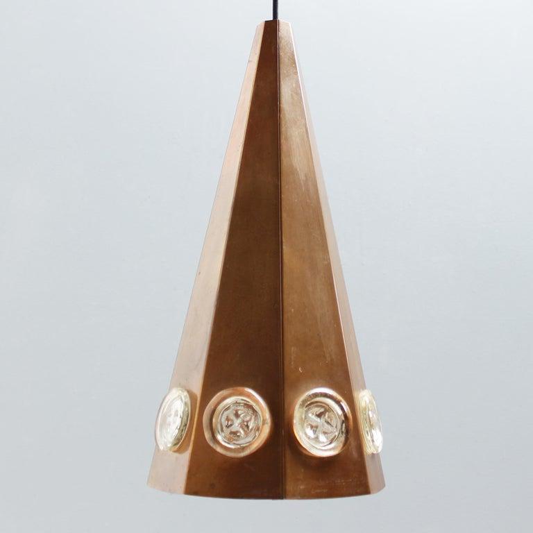 Brutalist Pendant by Hans Bergström and Erik Hoglund, Sweden For Sale 5
