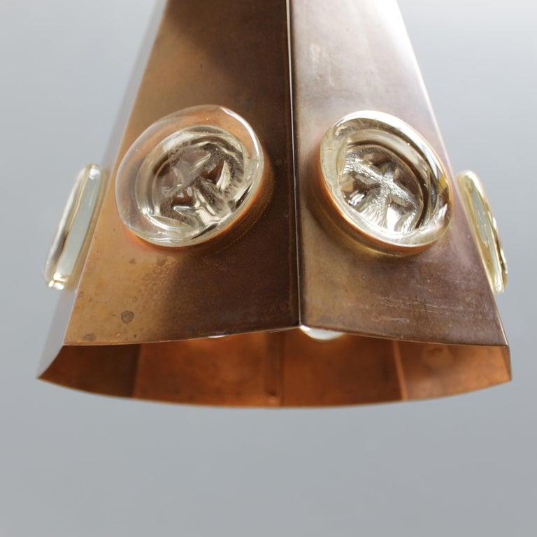 Brutalist Pendant by Hans Bergström and Erik Hoglund, Sweden For Sale 6